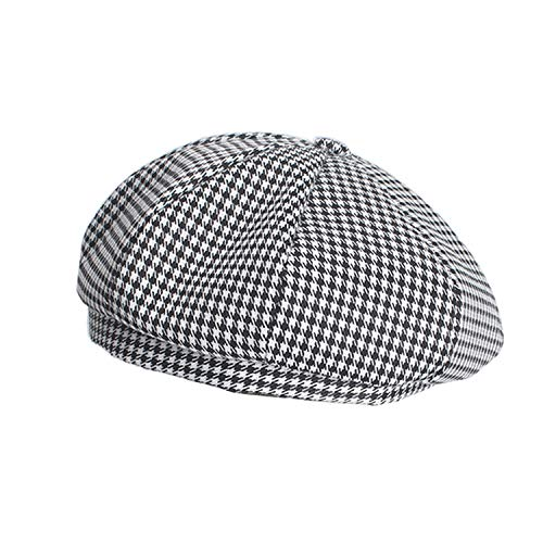 Spring Summer Bird Woman Beret Black French Beret Houndstooth Berets Black Berets With Elastic Force