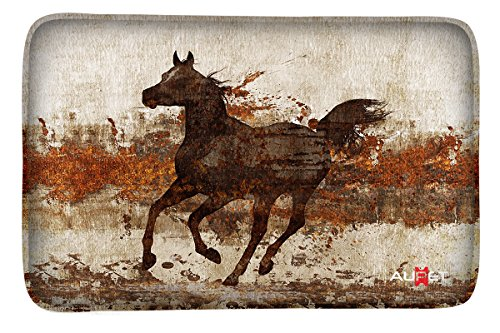 Horse Carpet - AUPET Carpets Floor Door Mat Carpets Indoor/Outdoor Area Rugs Garden Office Door Mat,Kitchen Dining Living Hallway Bathroom Pet Cat Dog Feeding Mat Pad Entry Rugs