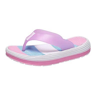d597f5cb34f5 Amazon.com  Photno Women s Flip Flops Sandals Fashion Rainbow Thong  Platform Slippers Summer Non-Slip Shoes  Clothing