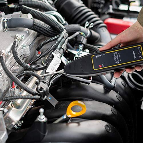 allsun EM410 Electronic Stethoscope Car Noise Finder Diagnostic Listening Device Machine Noise Detector for Automotive/Industrial Machine/Household Appliance 100Hz~10kHz Black