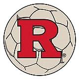 Fanmats NCAA Rutgers Scarlet Knights Nylon Face Soccer Ball Rug