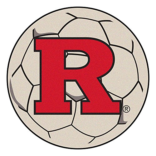 (NCAA Rutgers University Scarlet Knights Soccer Ball Mat Round Area Rug)