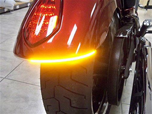 (Victory Vegas, High Ball, Gunner Fender Eliminator LED Turn Signal Kit with Tag Light and Bracket - Amber Turns with Smoked Lens)