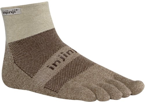 Injinji Men's Trail Midweight Mini Crew Toesocks