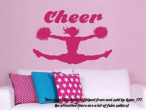 I Cheer Wall Decal Sports Girl Cheerleader Sport Wall Decals Vinyl Stickers Teens Nursery Baby Room Home Decor Bedroom Design Interior NS967
