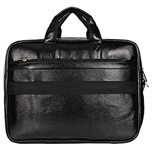 Sassie Leatherette 12 LTR Black Office Bag, Laptop Briefase, Sling Bag, Messanger Bag & Laptop Bag