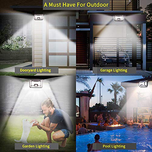 Solar Motion Sensor Light Outdoor,2-PACK New Upgrade 66 LED Solar Lights Outdoor,Motion Solar Lights Outdoor Waterproof,Led Solar Lights Outdoor Motion Sensor,Super Bright Solar Sensor Lights (66 LED) by LECLSTAR (Image #5)