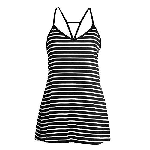 Cotton V-neck Halter Dress - 8