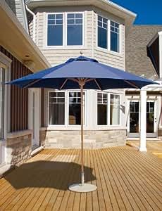 9 ft Round Market Umbrella - Single Pole, Commercial Grade,Sunbrella Fabric by Galtech