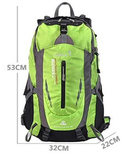 Outdoor-Klettern Tasche Männer und Frauen Rucksack Wandern Beutel große Kapazität 40L Rucksack ( farbe : Rot , größe : 40L )