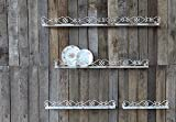 Iron Ledges Ornate Scrollwork Design Distressed Cream Finish Set Of 4 Country Home Wall D