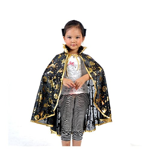 Lookatool Halloween costume Golden Pumpkin shawl (Free Size, Gold) (Jeux De Halloween Coloriage)