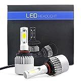 iDlumina H10 9140 9145 9155 12V 24V White LED Car Light Bulb 2X10W COB Aluminum Fan Cooling Design for Replacement Headlight Fog Light (Pack of 2)