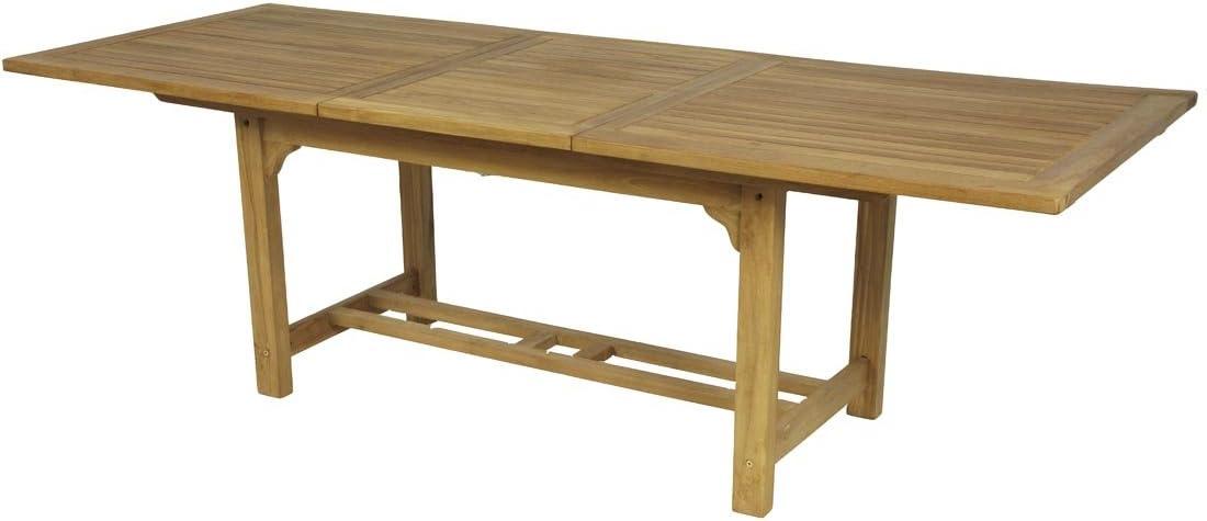 Mesa rectangular Extensible de TECA. (Largo 180-240. Ancho 100cm ...