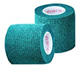 Vet Wrap Tape, Self Adherent Rap Tape, Self Adhering Stick Bandage, Self Grip Roll - (2-Inches Wide) x 15' Feet - (Hunter Green)
