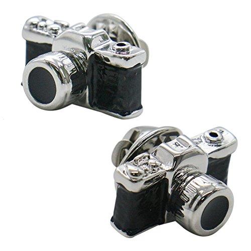 Buorsa Black Vintage Camera Brooch|Suit,Cuff,Hat pin|DIY Accessories