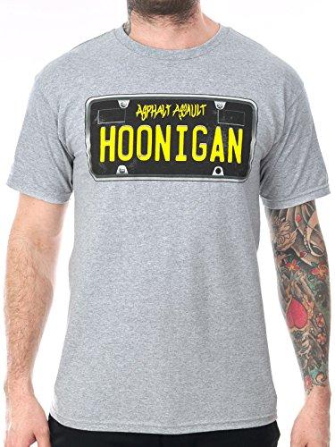 Hoonigan T-Shirt Plate Grau Grau