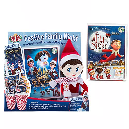 Festive Family Night with Original Elf Story DVD and New Santa's St. Bernards Save Christmas DVD ()