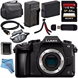 Panasonic Lumix DMC-G85 DMC-G85KBODY Mirrorless Micro Four Thirds Digital Camera (Body Only) + Battery + Charger + Sony 64GB SDXC Card + HDMI Cable + Case + Memory Card Wallet + Flexible Tripod Bundle