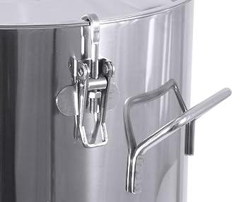 contacto edelstahl behälter cnt03008050 mit deckel 50 l mit drei ... - Edelstahlbehälter Küche