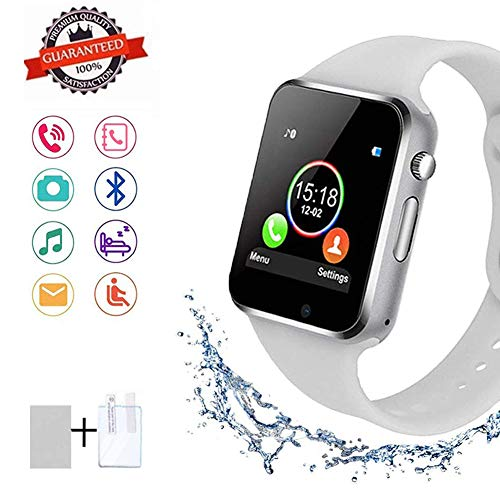SUNETLINK Smart Watches, Bluetooth Smart Watch Anti-Lost Touch Screen with Camera, Cell Phone Watch with Sim Card Slot, Smart Wrist Watch Compatible with Android Phones iOS for Kids Men Women from SUNETLINK