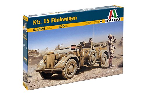 Carson 510006526 - 1:35 WWII Deu SD Kfz 15 Funkwagen, Fahrzeug