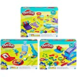 Hasbro HSBB6768 Play-Doh Playset44; Assorted Colors - Set of 3