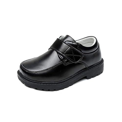 Niño Zapatos de Mocasines - Bmeigo Niños Planos Uniforme de Baile Suave Cuero Genuino Cómodo Escolares Oxford Zapatos Negro: Amazon.es: Zapatos y ...