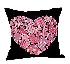 Fundas de Cojines,SHOBDW Regalo de San Valentin Fundas de Almohada Sofá de Lino Color Feliz año Nuevo Ideas de la Boda romántica Decoración del ...