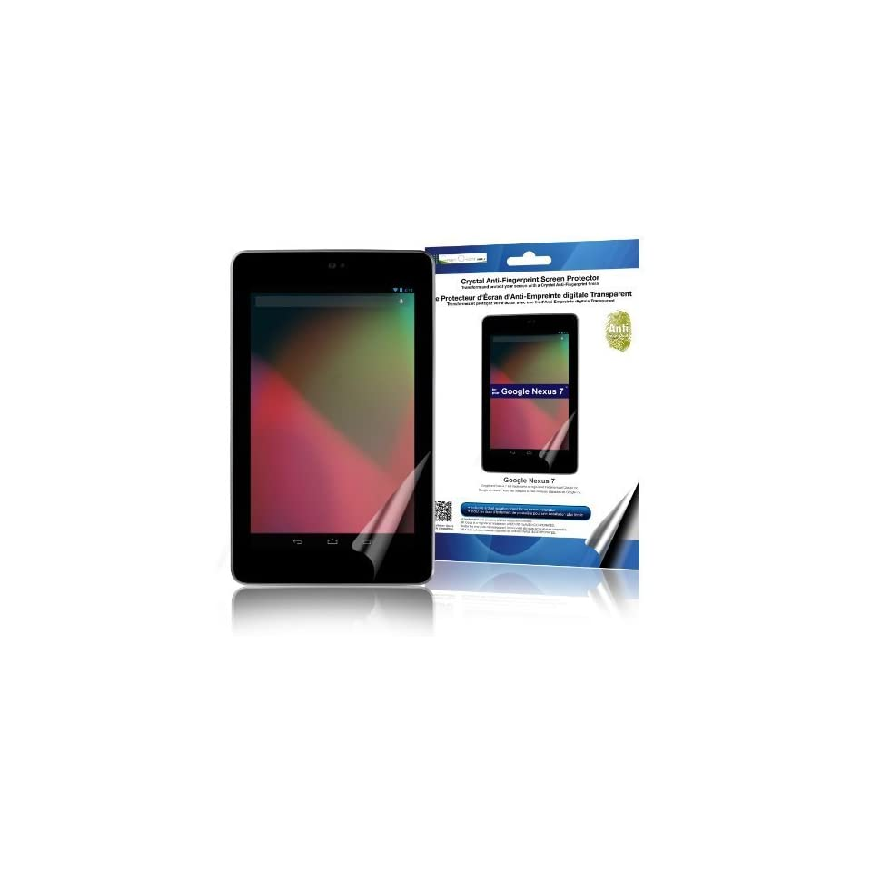 Green Onions Supply Crystal Anti Fingerprint Screen Protector for Google Nexus 7 (RT SPGN701AF)