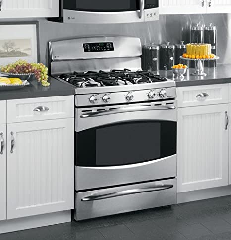 Amazon Com Ge Profile Pgb910semss 30 Gas Range 5 Sealed Burners Griddle Self Clean Stainless Steel Appliances