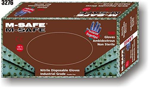 (20 Boxes) Majestic POWDER FREE DISPOSABLE NITRILE GLOVES, 100/BOX - 2X LARGE(3276/12)