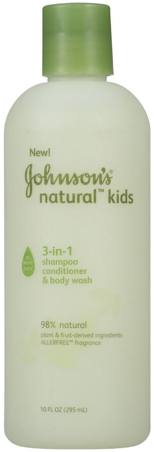 Johnson's Kids Natural 3-in-1 Shampoo, Conditioner and Body Wash, 10 Ounce (Pack of 2)