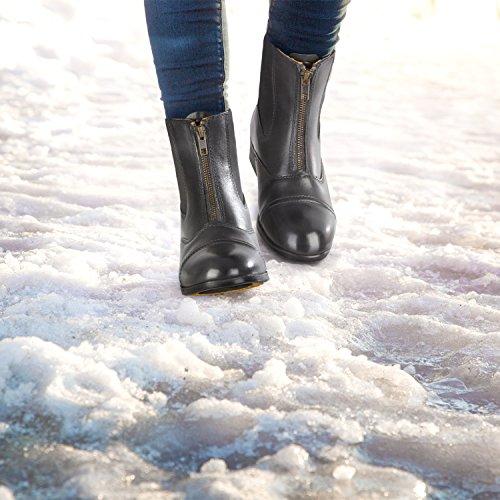 Stiefelette »BOSTON ADVANCED FZ WINTER« mit Reißverschluss vorne. Bequeme Boots aus Echtleder | Robuster Reitschuh mit Gummisohle und Fell | Stiefel Gr. 35-45 Fallen kleiner aus | Farbe: Schwarz schwarz