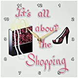 zebra print wall pics - 3dRose dpp_185047_1 Pink Zebra Print Bag and High Heels its All About The Shopping-Wall Clock, 10 by 10-Inch