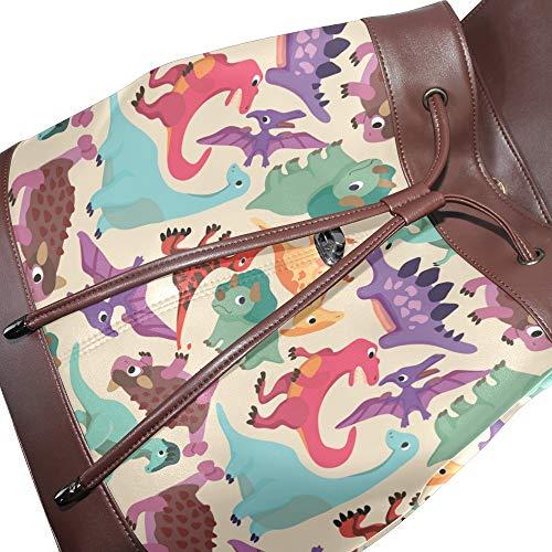 Multicolor Piel Talla Mochila Única Bolso Para Mujer De Dragonswordlinsu Yq7wSPRn