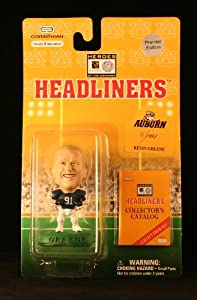 KEVIN GREENE / AUBURN UNIVERSITY TIGERS * 3 INCH * 1996 NFL Heroes of the Gridiron * Premier Edition * Headliners Football Collector Figure