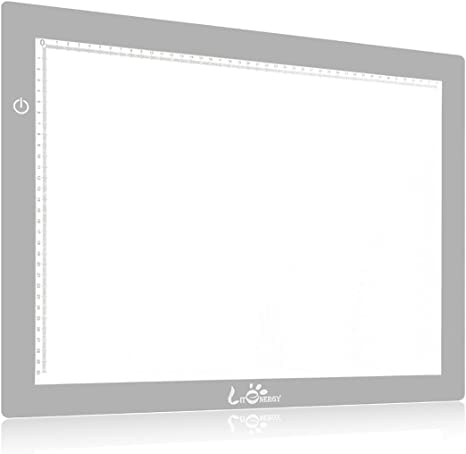 litenergy 24,3 cm Diagonal A3 LED portátil mesa de luz para dibujo ...