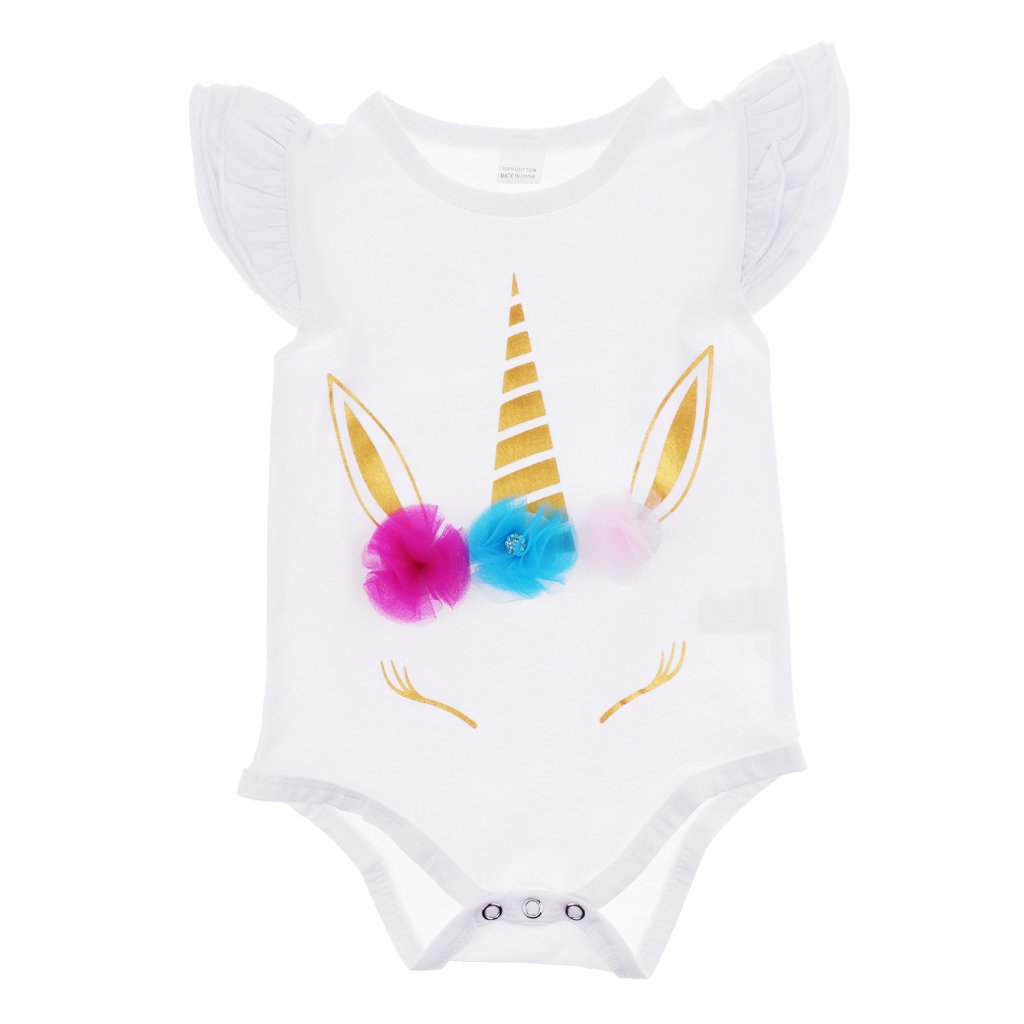 D Dolity Pagliaccetto dell'uncinetto Tutine Body Vestiti per Bambina Neonato
