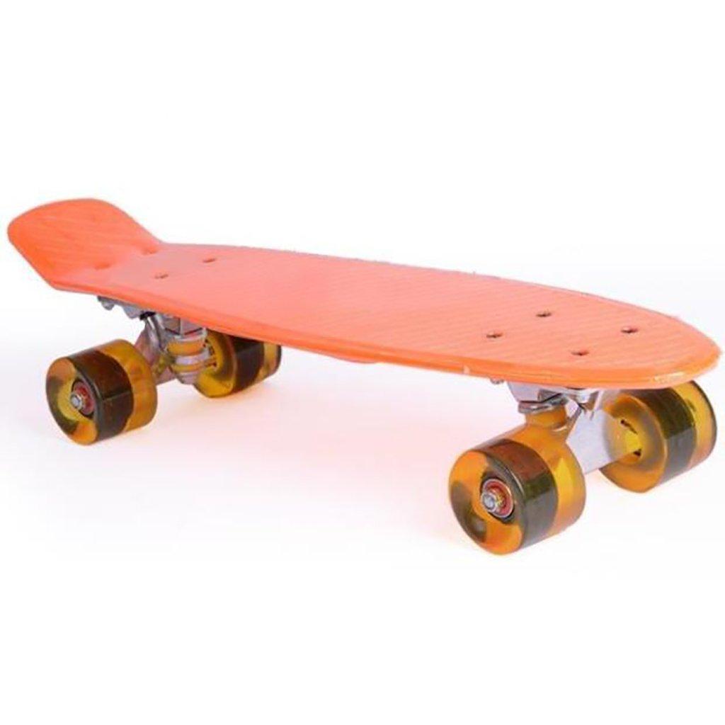 YONGLIANG 屋外の魚の形のスケートボードの子供の大人のPUラウンド厚いプラスチック耐摩耗性のフラッシュ : (色 : 青) 青) B07BSLKM3S Orange Orange Orange, インテリアチョコレート:29bf1d72 --- integralved.hu