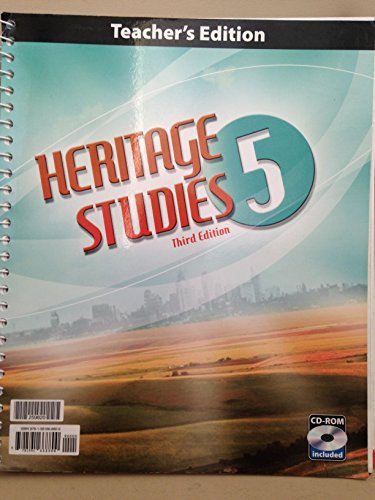 Third Grade Cd - Heritage Studies Grade 5 Teacher's Edition with CD 3rd Edition