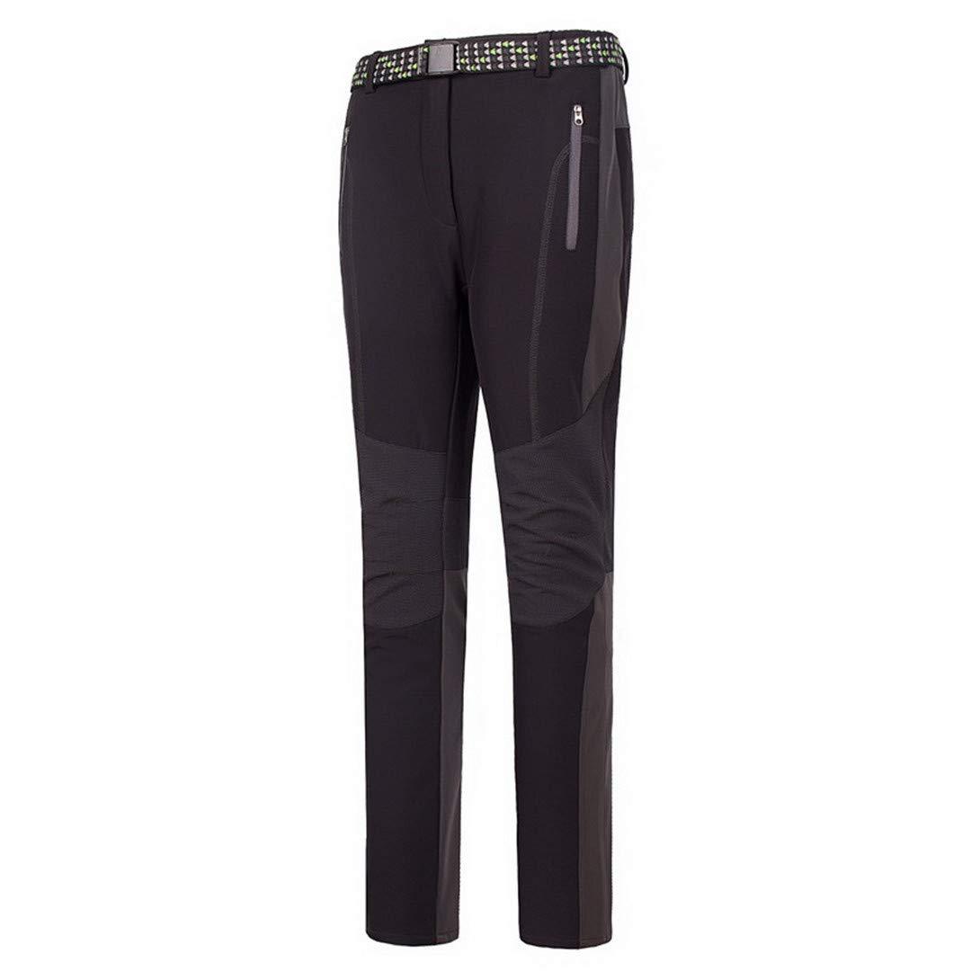 OUTDQSAFE Winter Damen Softshell Wandern wasserdicht Winddicht Hosen Outdoor-Sport-Vlies-thermischer Ski Pants Gray Asian Size XL