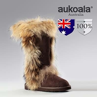 Amazon Com Aukoala Snow Boots Australia Sheepskin Warm