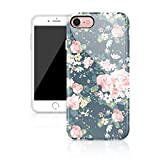 """iPhone 7 case floral, Akna Glamour Series Silicon cover for iPhone 7(4.7""""iPhone)[Vintage Roses](390-U.S)"""