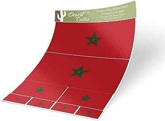 Desert Cactus Eritrea Country Flag Sticker Decal Variety Size Pack 8 Total Pieces Kids Logo Scrapbook Car Vinyl Window Bumper Laptop V