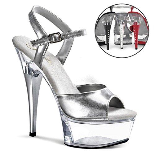 Pleaser - Sandalias de vestir para mujer Silber
