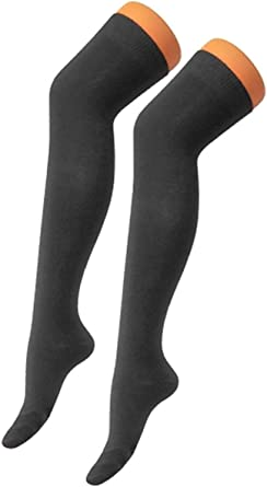 1,3 X Ladies Over Knee Long Casual Women Thigh High Plain Cotton Over knee Socks