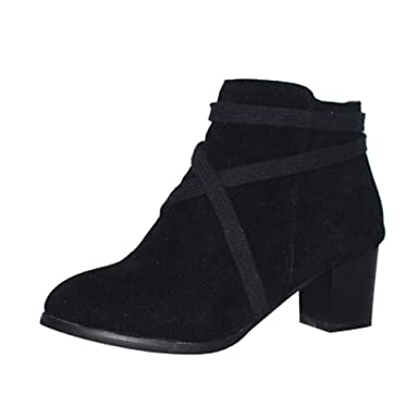 62ea234d3753b Amazon.com: Hunzed Women Shoes Christmas High-Heeled Round Head Low ...