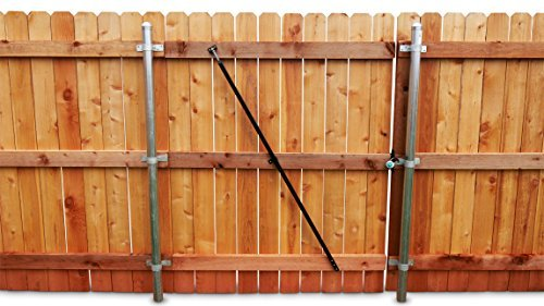 True Latch Gate Brace for Wood privacy fence gate repairs on sagging, dragging, non latching gates (Privacy Fence Gates)