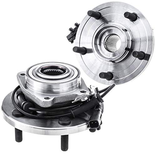 [2-Pack/Pair] 513273 FRONT Wheel Hub and Bearing Assembly for 2008-2016 Chrysler Town & Country, 2008-2016 Dodge Grand Caravan, 2012-2014 Ram Cargo Van, 2009-2012 Volkswagen Routan, 5 Lugs with ABS
